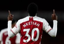 Nketiah's late strike gives Arsenal 2-1 win over West Ham United
